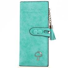 7 Candy Farben multifunktionale Regenschirm Reißverschluss Weiblichen Brieftaschen Frauen PU Leder Lange Brieftasche Quaste Lange Kupplung Kartenhalter femme