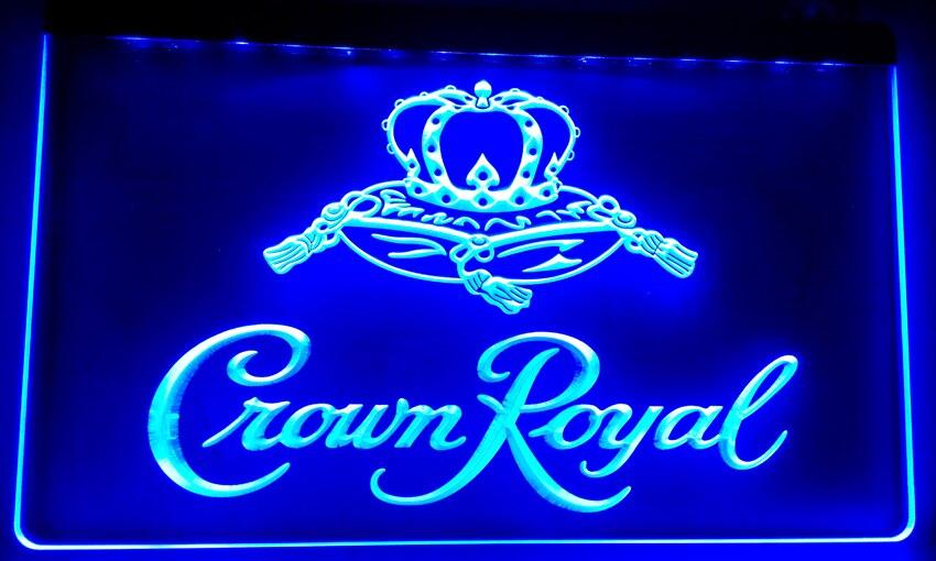 LS018 b Crown Royal Derby Whiskey NR beer Bar LED Neon