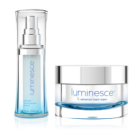 Luminesce Jeunesse Anti Aging Serum Essence and Advanced Night Repair Night Cream Cellular Rejuvenation Rebuild Skin Vitality