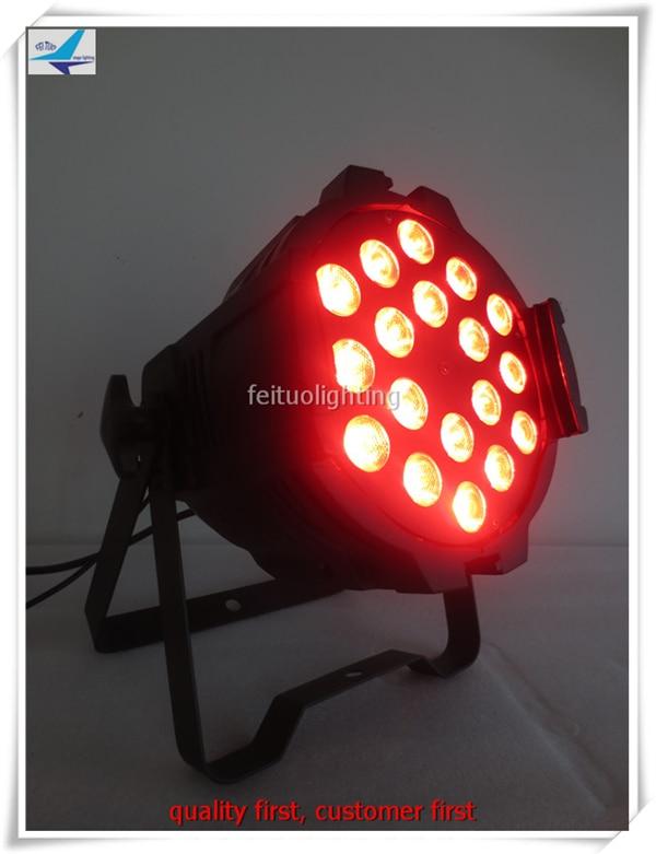 6 pieces Super bright rgbw color led par wash 18x10w dmx512 led par light for stage dj luminaria free shipping 16 lot dmx 18x10w rgbw led par can light for stage decoration