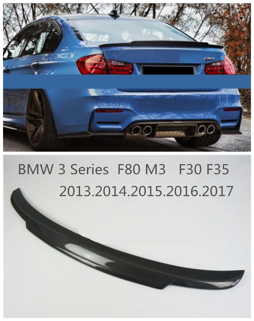 Online get cheap m3 spoiler aliexpress alibaba group high quality carbon fiber spoiler for bmw 3 series f80 m3 f30 f35 2013201420152016 vanachro Gallery