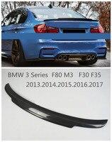 Fibra de carbono Spoiler Para BMW Série 3 F80 M3 F30 F35 2013 2014 2015 2016 2017 2018 Traseiro Spoilers Asa alta Qualidade Acessórios de Automóveis Modificados|carbon fiber spoiler|spoiler for bmw|auto spoilers -