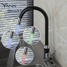 Бортике одно отверстие Смесители для ванной комнаты смесителя 3 цвета Свет хром поворотный Кухонные смесители Cozinha torneira