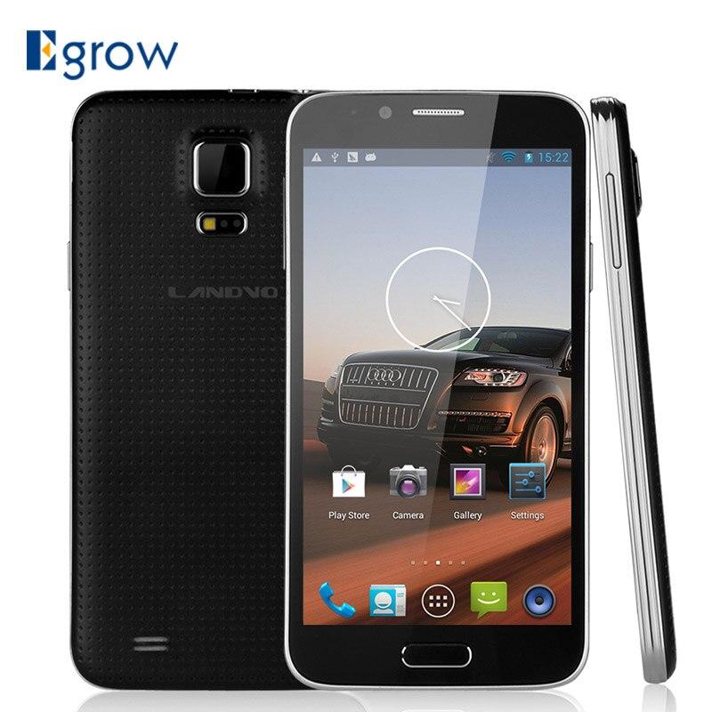 Цена за Оригинал Landvo L900 MT6582 Quad Core Android 4.2.2 Мобильный Телефон 5.0 дюйма Сотовых Телефонов 1 ГБ RAM 4 ГБ ROM Разблокировать 3 Г WCDMA Смартфон