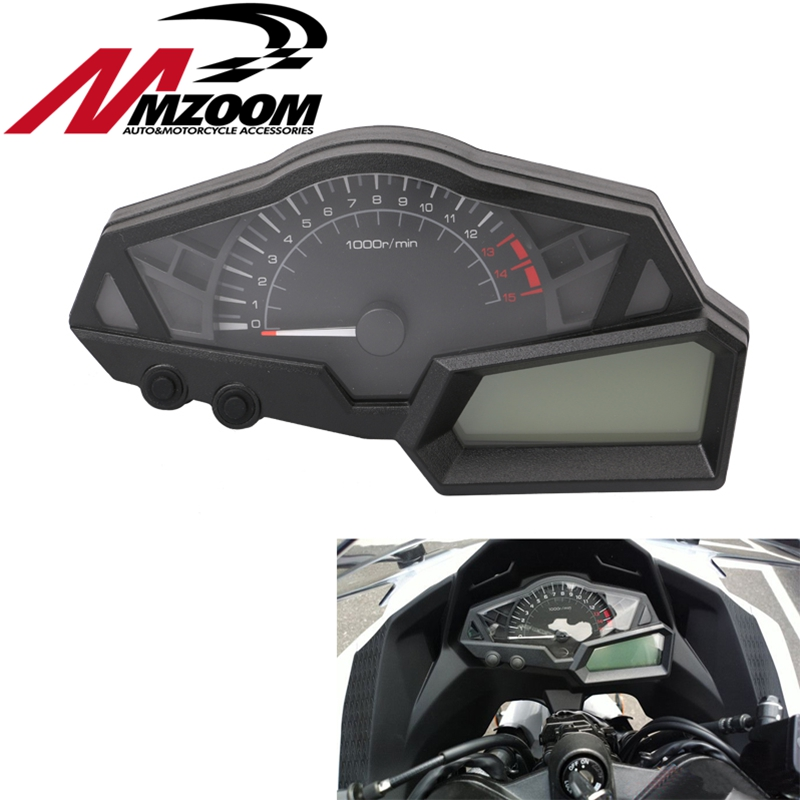 Motorcycle Dashboard Speedometer Tachometer for KAWASAKI NINJA 300 EX300A 2013-2015 Plastic ABS Motorcycle Speedometer new abs plastic speedometer gauge case cover tachometer for kawasaki ninja zx10r 2004 2005