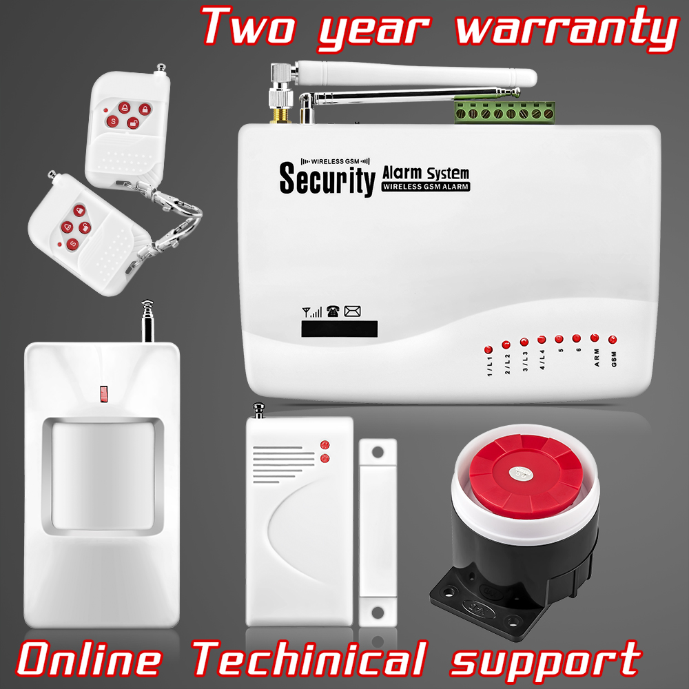 Wireless GSM Intruder Burglar Dual Antenna Alarm Systems font b Security b font Home Wireless Signal