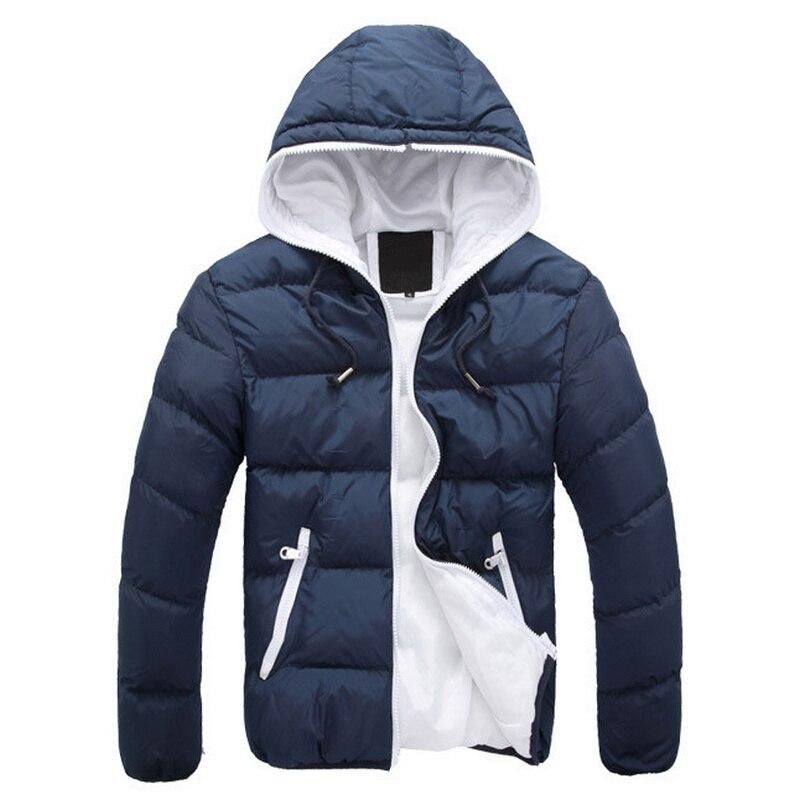 2018 neue Marke winter Jacke für männer mit kapuze mäntel lässige herren dicken mantel männlichen dünne beiläufige baumwolle gepolstert unten oberbekleidung