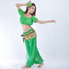 13 Color Bollywood Costume Belly Dancing Costumes 3-pieces(338 Coins Scarf+Top+Pant)  Belly Dance Clothes