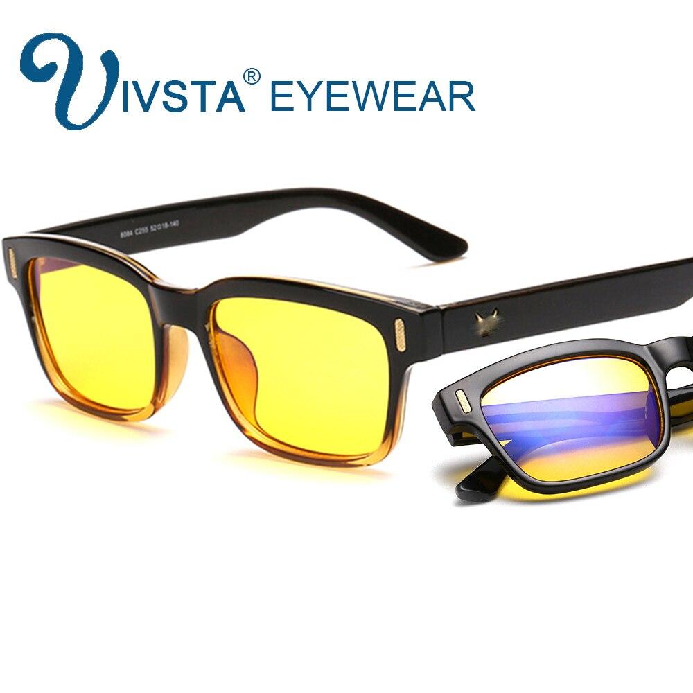 IVSTA gafas de ordenador Anti Blue Rays Gaming bloqueo Filtro de luz pantalla UV400 radiación gafas hombres mujeres 8084