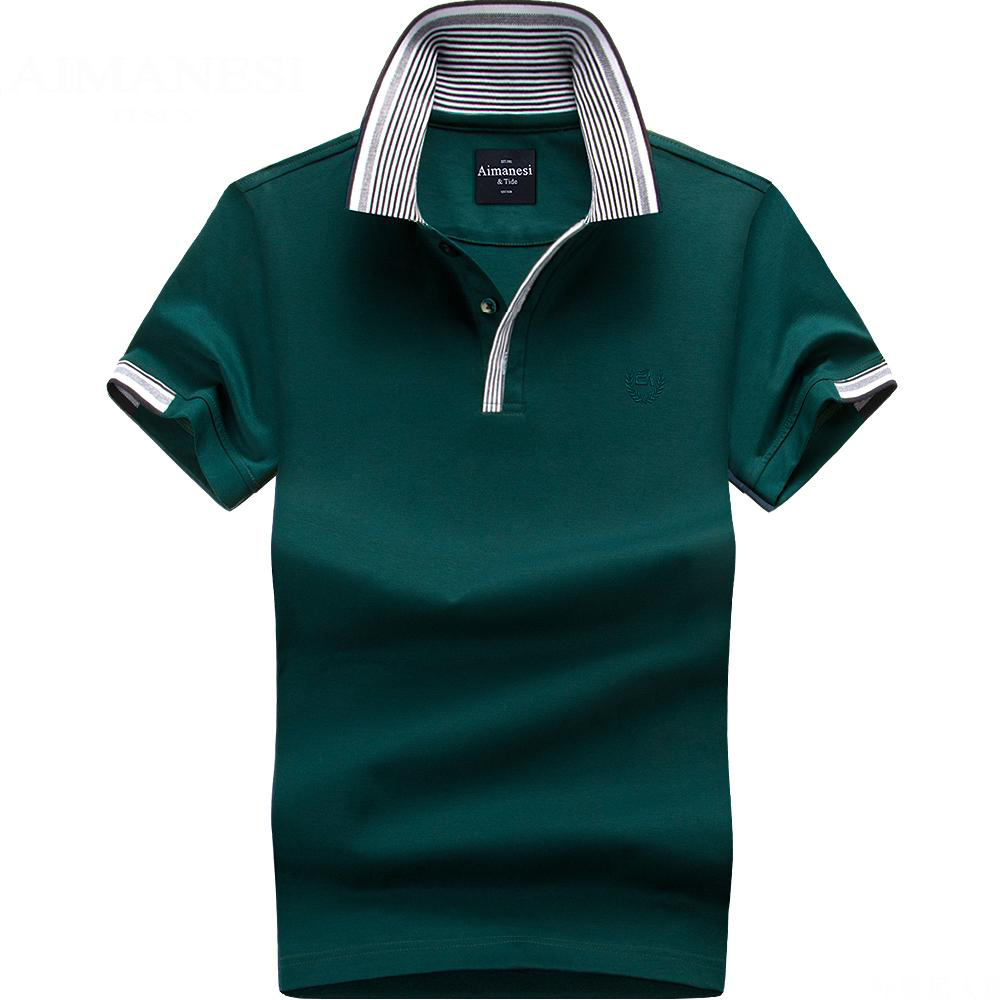 New 2017 Mens Cotton Polo Shirt Brand 9 Colors Short Sleeved Polo Shirt Male Plus size