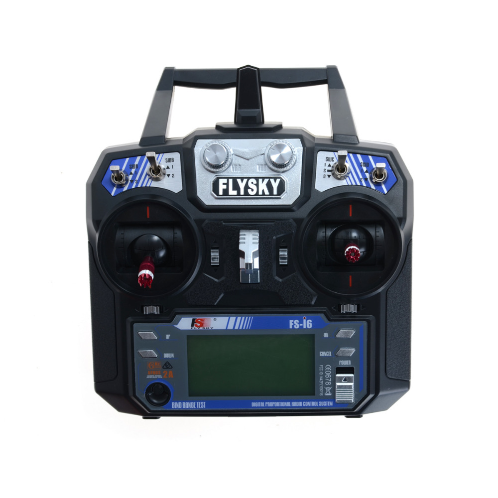 FS-i6 Flysky AFHDS 2A 2.4GHz 6CH Radio Transmitter & FS-iA6 Receiver for RC Helicopter Multirotor Plane Quadcopter image