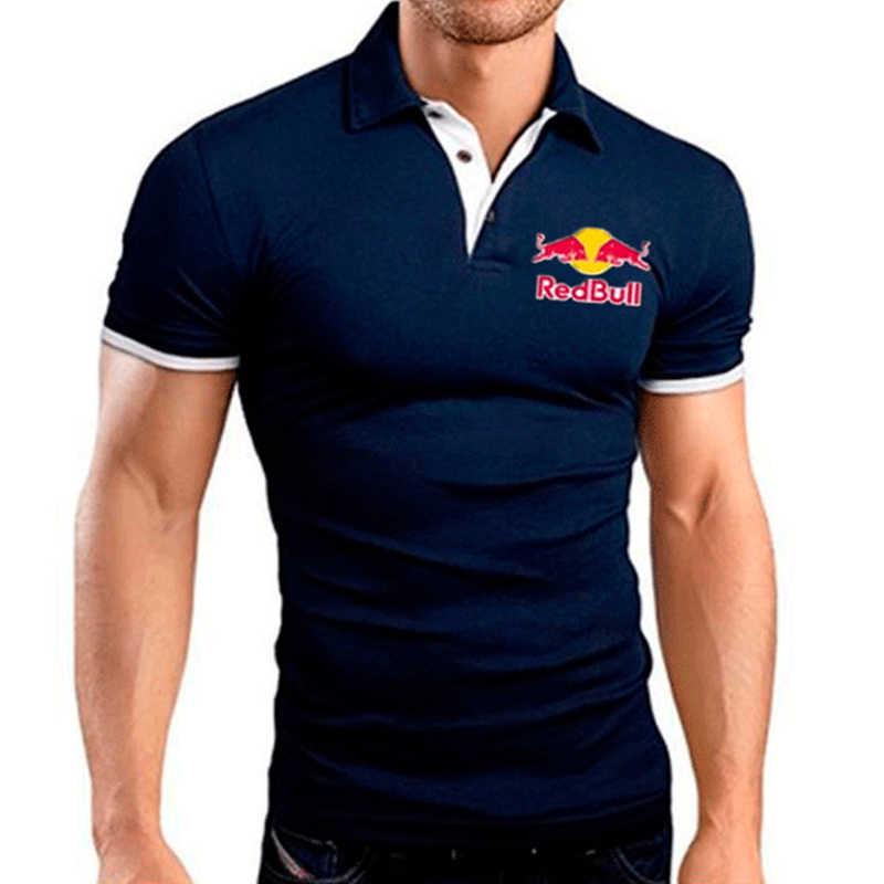 Новые мужские рубашки поло высококачественные рубашки с коротким рукавом дышащие однотонные поло летние повседневные деловые мужские 2019 плюс размер