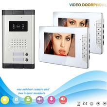 Xinsilu XSL-520*2-V70E 7 Inch fashional display video door phone Outdoor Camera with night vision camera