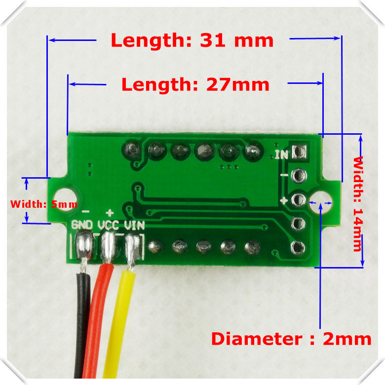 rd 0 36 digital voltmeter 3 digit 3 wires five colors dc0 33v led rh aliexpress com 86 Blazer 24 Volt Charging System Wiring Diagram AC Voltmeter Wiring -Diagram
