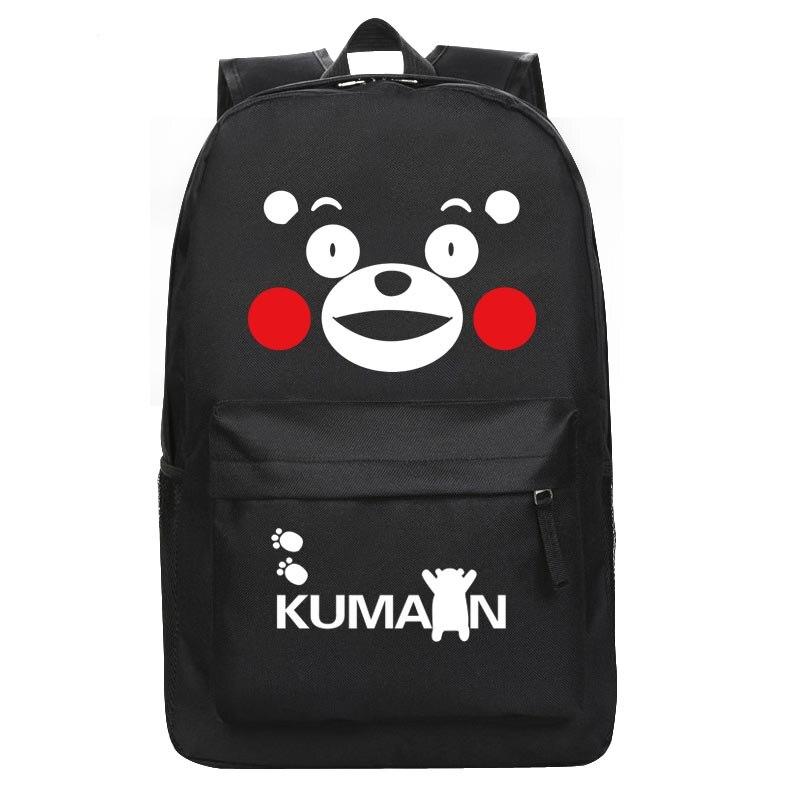 Японский Кумамон рюкзак с принтом «Аниме Косплей» медведь нейлоновая школьная сумка унисекс