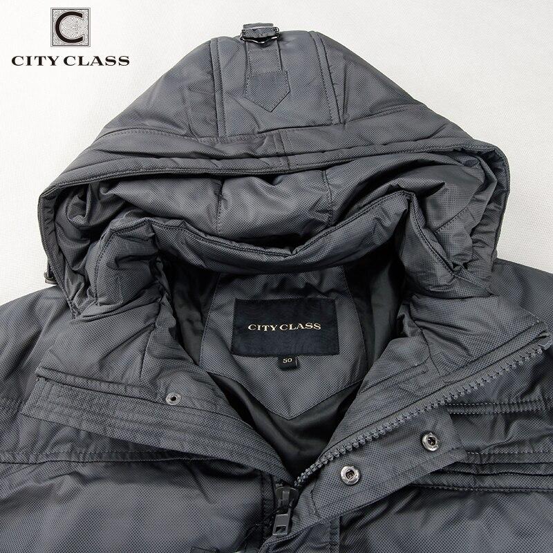 CITY CLASS Nya herrar vinter jackor mode fritid hatt kort - Herrkläder - Foto 5
