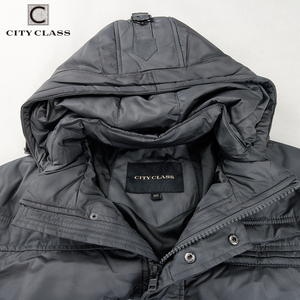 Image 5 - CITY CLASS chaquetas de invierno para hombre, sombrero de ocio a la moda, Isoft cálida chaqueta de invierno con relleno, envío gratis, 603