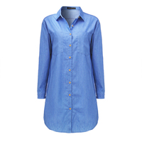 Womens-Loose-Long-Sleeve-Denim-Dress-3