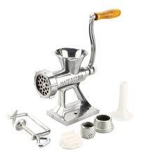 MultifunctionDesk Type Handkurbel Manuellen Fleischwolf Fleischwolf Stuffer Wurst Kaffee Pulver Marmelade Püree Nudelhersteller Maschine
