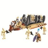 Bela Compatible Legoe Lepins 565pcs 10374 Star Wars Battle Droid Troop Carrier Building Blocks Bricks Toys