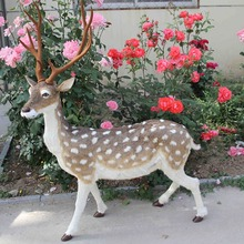 big new simulation sika deer toy polyethylene&furs male sika deer model doll about 110x143cm