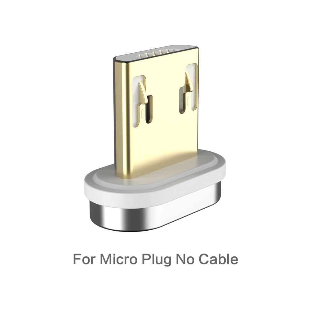 FLOVEME Магнитный кабель Micro usb type C для iPhone Lightning Кабель м 1 м 3A Быстрая зарядка USB-C type-C магнит зарядное устройство кабель для телефона магнитная зарядка магнитный usb кабель провод для зарядки шнур - Цвет: For Micro Plug
