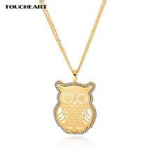 Toucheart полая Милая Золотая Сова дружба ожерелья и подвески