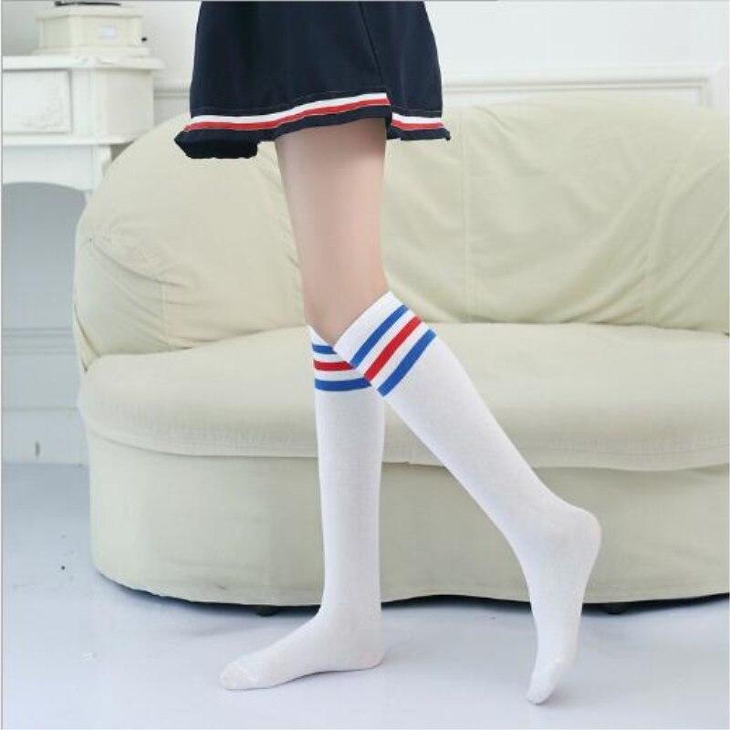 10 par lote meias secao fina das criancas meninas de algodao puro ate o joelho alta