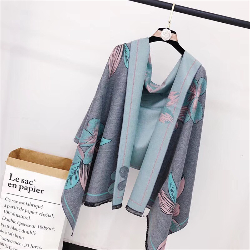 Women   Scarf   Winter Autumn Woman   Scarves     Wrap   Shawl Thick Women's   Scarf   Warm Cotton Cashmere Wool Blended Knit Brushed Poncho