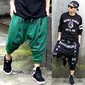 L-4XL! 2016 мужская одежда DJ плюс размер моды случайные штаны висит промежность брюки хип-хоп хип-хоп вэй брюки певица костюмы