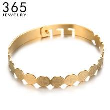Trendy Religie Rvs Jesus Medaille Armband Goud Kleur Verstelbare Saint Pictogrammen Armbanden Voor Vrouwen Meisjes