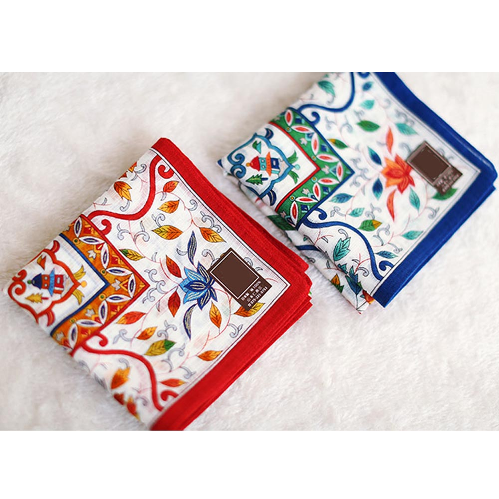 New Arrival 48*48cm Women's Cotton Kerchiefs Multi-use Square Hankies Sweat Absorption Japanese Style Luxury Handkerchief SY1900