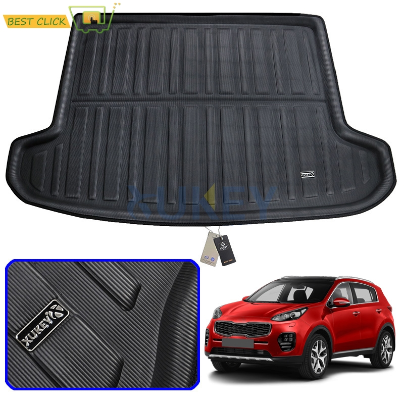 Tailored Boot Liner Tray For Kia Sportage QL 2016 2017 2018 2019 Car Rear Trunk Cargo Mat Floor Sheet Carpet Mud Protective Pad
