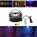 Магический Хрустальный Шар RGB Света Этапа Mp3-плеер DJ Дискотека Этап Эффект Освещения Свет Проектора Свет Высокое Качество ФЕН #