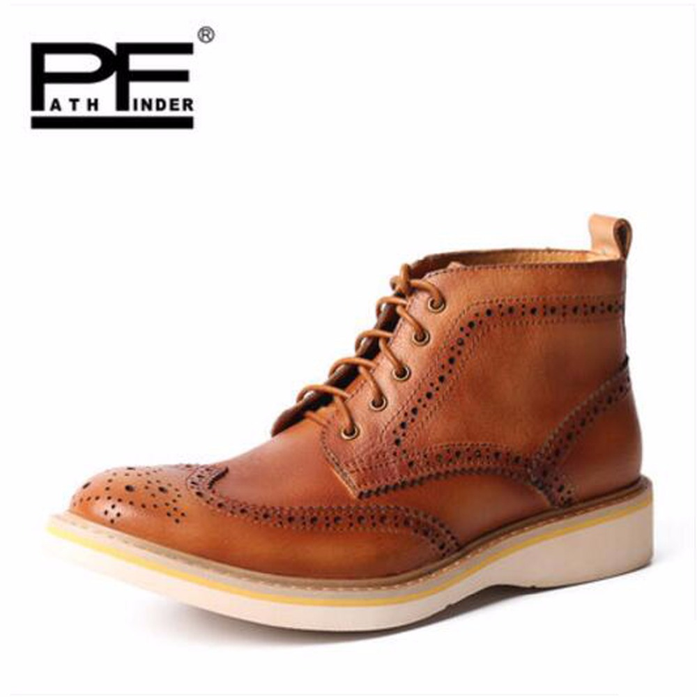 Pathfind Comfortable breathable Leather ankle Boots winter Motorcycle Martin Tooling military Boots Men Outdoor Shoes mans Botas pathfind luxury brand leather ankle snow boots europe style motorcycle martin tooling military boots men outdoor casual shoes