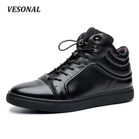 VESONAL 2017 Brand British Luxury 100% Genuine Leather Men Shoes High Top Quality Fashion Mens Shoes Casual Designer SD6172