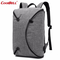 CoolBELL Brand 15.6 Inch Men Laptop Backpack Bag With USB Port Personalized Foldable Travel Backpack Waterproof Notebook Bag