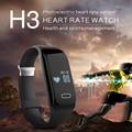 Nueva Pulsera Inteligente H3 Pulsera Pulsómetro Bluetooth 4.0 Deportes De Fitness Rastreador Pasómetro Smartband Para IOS Android