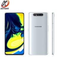 Brand New Samsung Galaxy A80 A8050 LTE Mobile Phone 6.7 8GB RAM 128GB ROM Snapdragon 730 Android 3700mAh NFC Dual SIM Phone