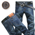2016 High Quality Famous Brand Men Jeans Cotton Denim Jeans Casual Straight Washed With Stretch Autumn Jeans plus Size:28~38