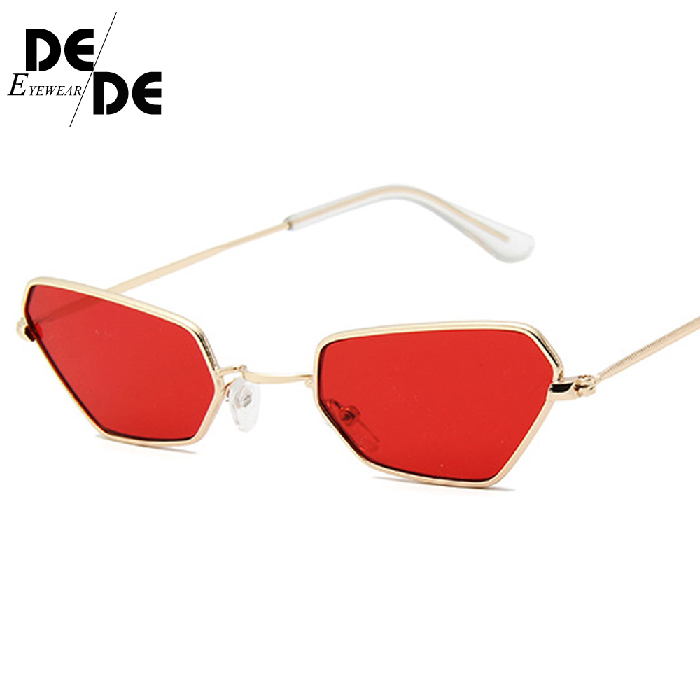 DesolDelos Sun Glasses Cat Eye Sunglasses Women Men Metal Small Frame Shade Female Eyewear Eyeglasses Color Lens UV400 2019 New