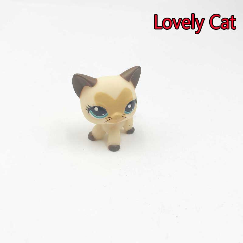 Cartoon Super Cute Grey Cat Lps Doll Toy Lovely Animal Pets Head Movable Collection Shop Toys Anime Children Birthday Toys lps toy pet shop cute beach coconut trees and crabs action figure pvc lps toys for children birthday christmas gift