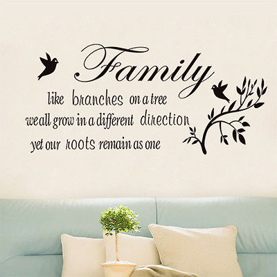 Family Like Branches On A Tree Vinyl Lettering Wall Quotes Home Art