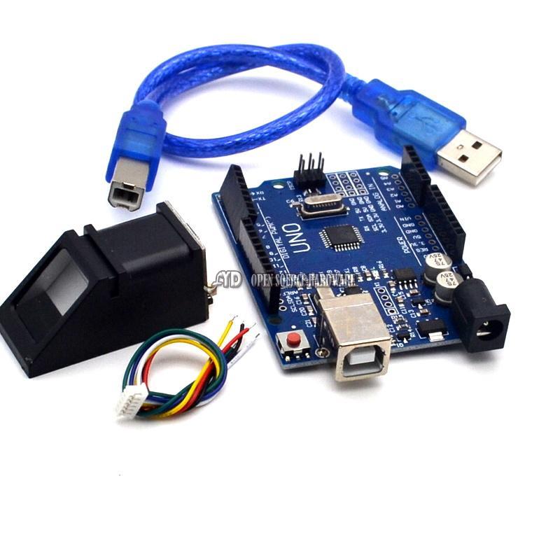 High quality   fingerprint Module for  Optical fingerprint sensor + 1pcs UNO R3 MEGA328P with usb cable