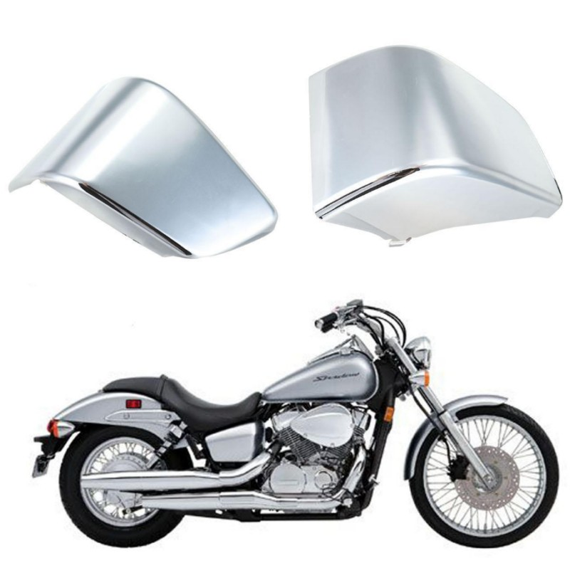 Chrome Battery Side Fairing Cover For Honda Shadow ACE VT750 VT400 1997-2003 motorcycle 16 5 cm saddle bag support bar mount bracket for honda shadow ace vt vt400 vt750