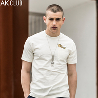 Free Shipping Ak Men S Clothing 2016 Spring Male Yarn Casual Two Turn Down Collar Pullover