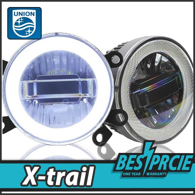 UNION Car Styling LED Fog Lamp for Nissan X-Trail DRL2008-2015 LED Daytime Running Light Fog Light Parking Signal Accessories for nissan x trail t30 2001 2006 car styling led light emitting diodes drl fog lamps