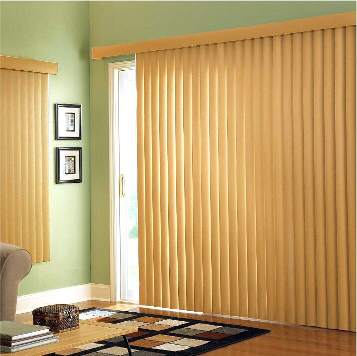 Wood blinds vertical blinds wood grain waterproof den for Living room vertical blinds