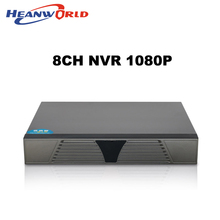 Лучшая CCTV 8 канальная NVR Onvif H.264 HDMI, Высокое разрешение 1080P Full HD, 8 канальный сетевой видеомагнитофон CCTV NVR для системы IP камер