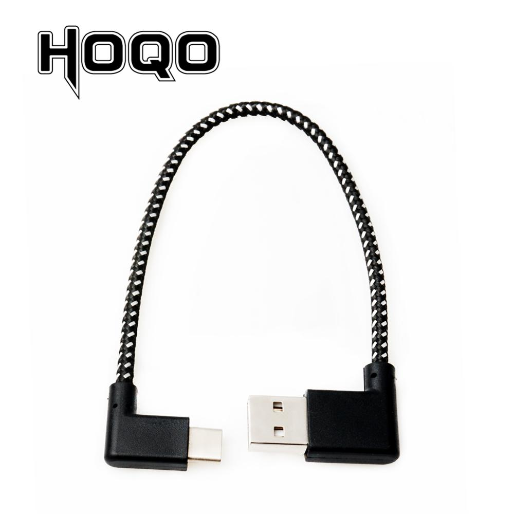 USB-c Woven USB 2.0 Male To Left Angle Type-c Male USB 2.0 Cable Reversible Left Right Angled 90 Degree Usbc Data Power Cable